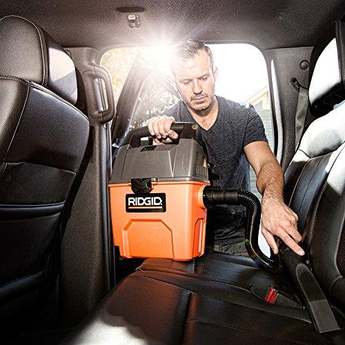 RIDGID Wet Dry Vacuums VAC3000 Portable Wet Dry Vacuum Cleaner for Car, Garag...