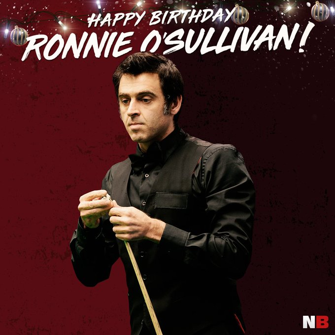 Happy Birthday Ronnie O\Sullivan  A genius of the snooker table!
