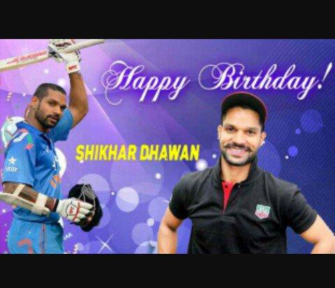 Happy     birthday     Shikhar Dhawan sir your shot classical aapka shot Goli ki tarah jata hai