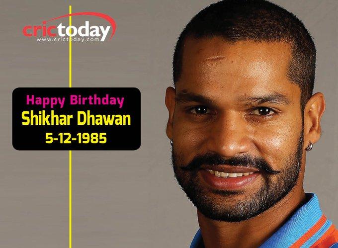 Wishing Shikhar Dhawan A Very Happy Birthday.......