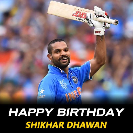 Happy birthday to Team India\s Gabbar, Shikhar Dhawan :) :D Many more happy returns of the day :)