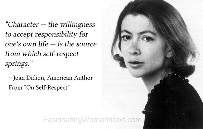 Happy Birthday to Joan Didion! Her is ageless, timeless...