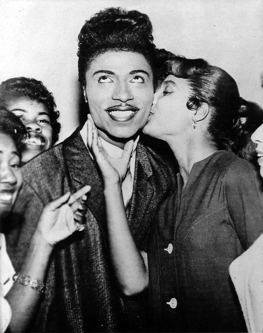 Happy birthday to Little Richard - first seen rocking the cradle this day in 1932 - Shut up!