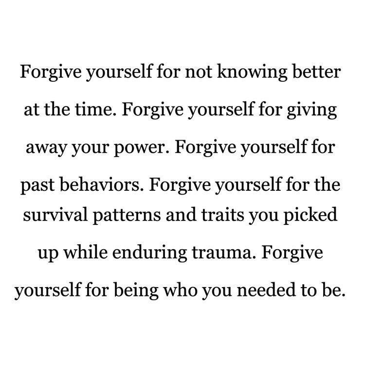 Forgive yourself. https://t.co/BbCsyswQd6