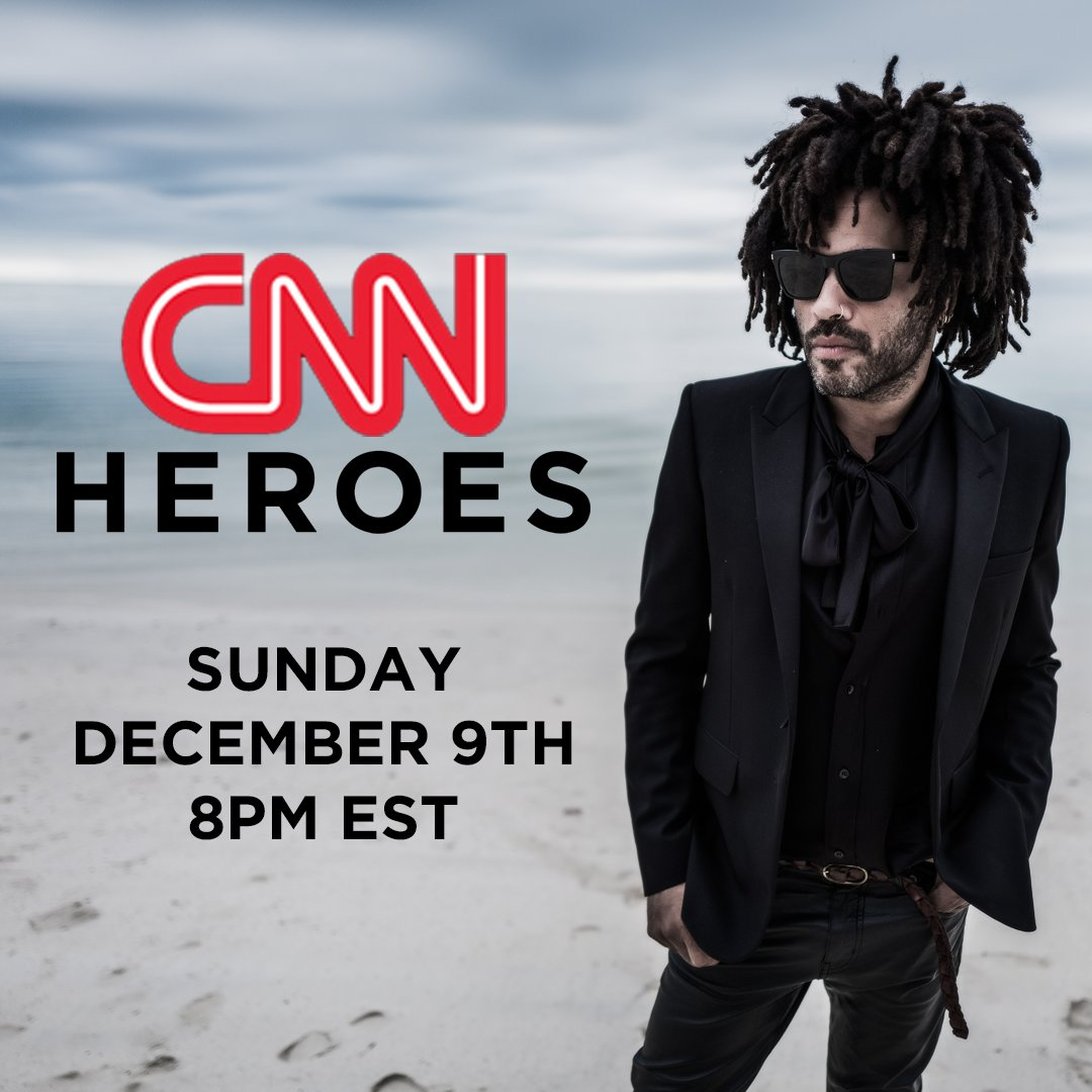 Tune in this Sunday on @CNN to see Lenny perform #HereToLove on @CNNHeroes : An All-Star Tribute! - Team LK https://t.co/pCE8MWpBxH