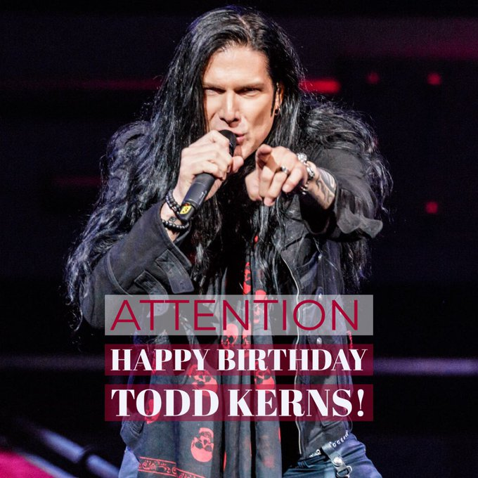 A very happy birthday to Todd Kerns! (Heads up that Todd will join us for a few shows over the holidays)
