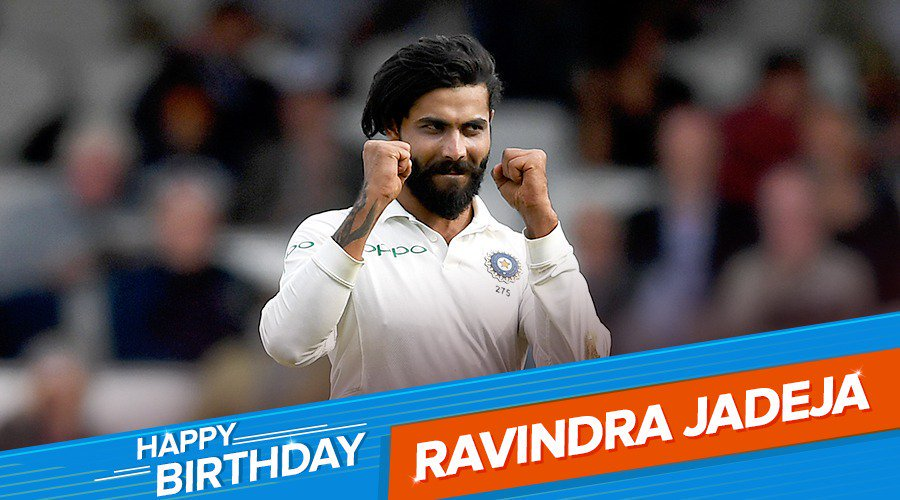 One of the best fielders, all rounders of the game Ravindra Jadeja, happy birthday.