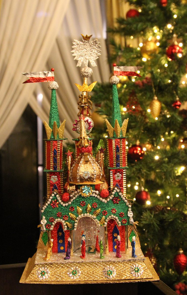 test Twitter Media - Festive Xmas party with bilingual carols at @PolishEmbassyUK - Amb @ArkadyRzegocki - who hails from Krakow - displayed a #Szopka (mini nativity scene, now given UNESCO intangible heritage status). Today (6 Dec) Krakow locals exhibit their #szopki. Thanks for our bombka/bauble! https://t.co/AyEZaq6CQq