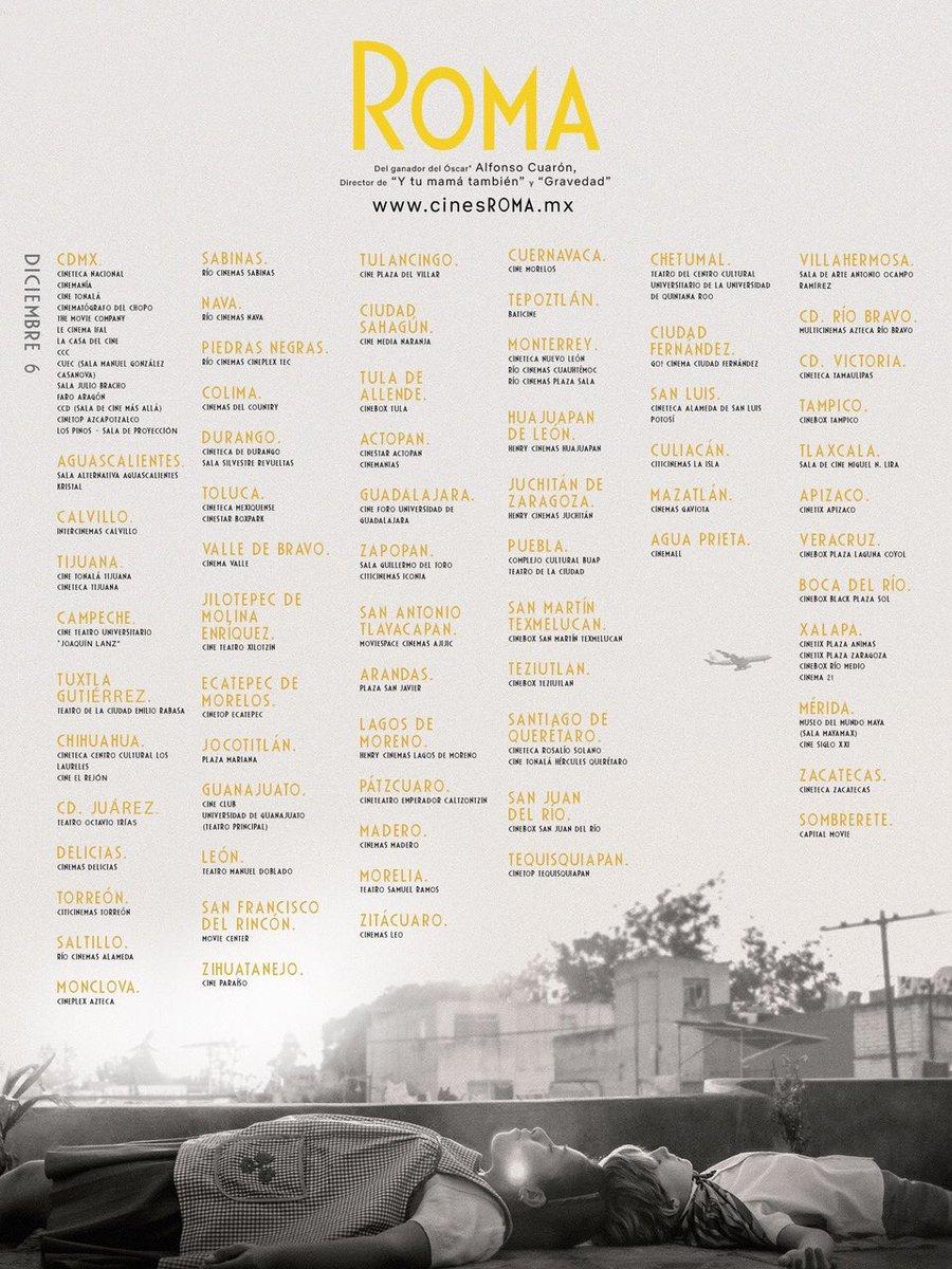 RT @imcine: ¿Dónde puedes ver @ROMACuaron, película mexicana nominada a tres premios #GoldenGlobes? Mira👇 https://t.co/OuK0FSAqu8
