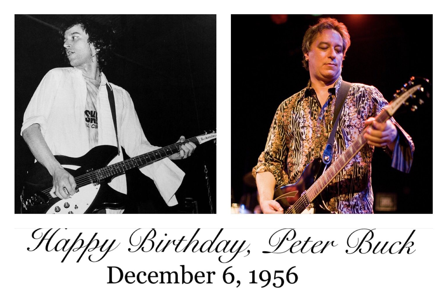 Happy birthday, Peter Buck!