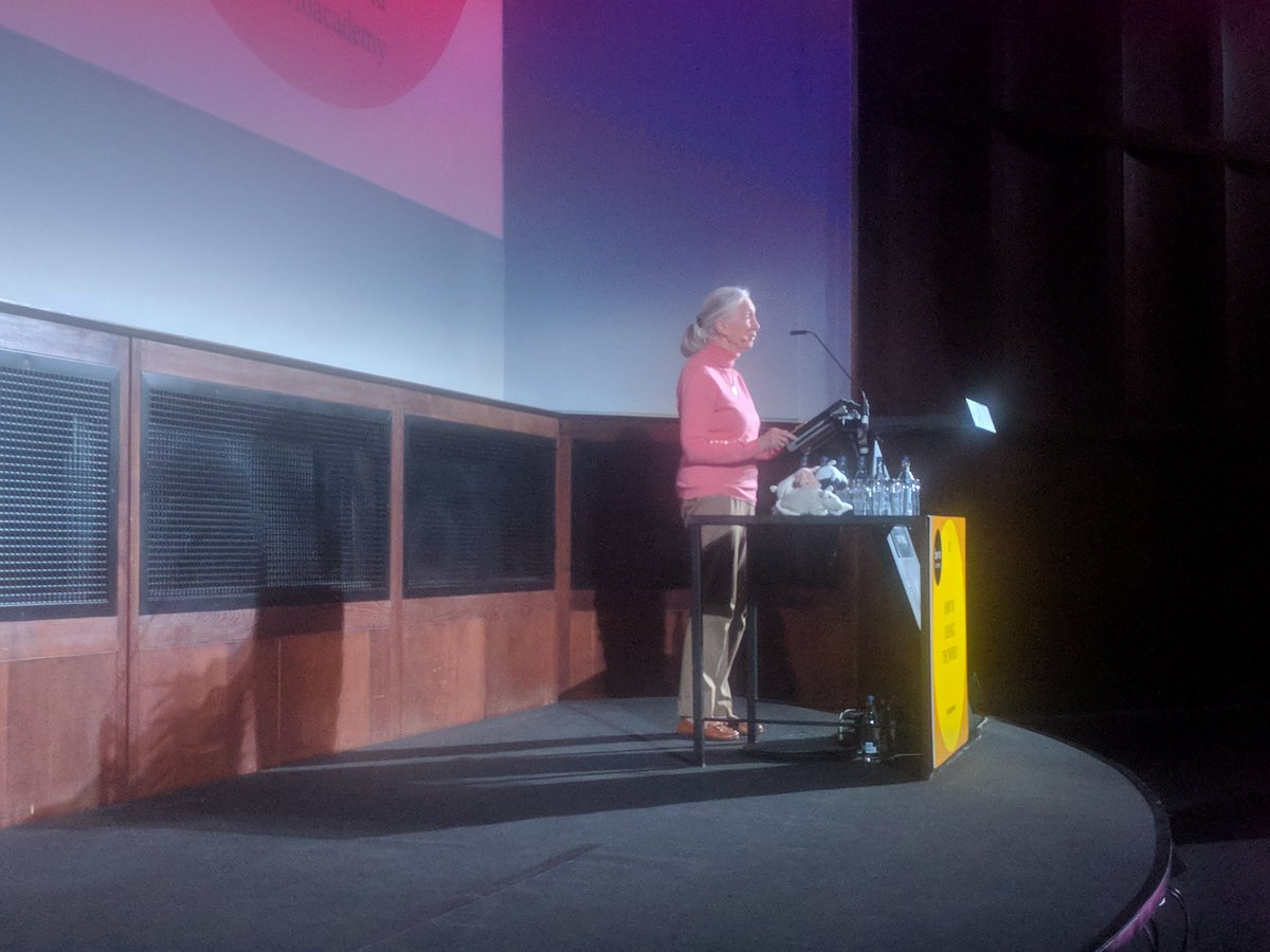 """test Twitter Media - """"When I began my career there were no televisions, let alone the technological marvels we've been talking about today!"""" @JaneGoodallInst #ChangeTheWorld https://t.co/kPES0NHa0M"""
