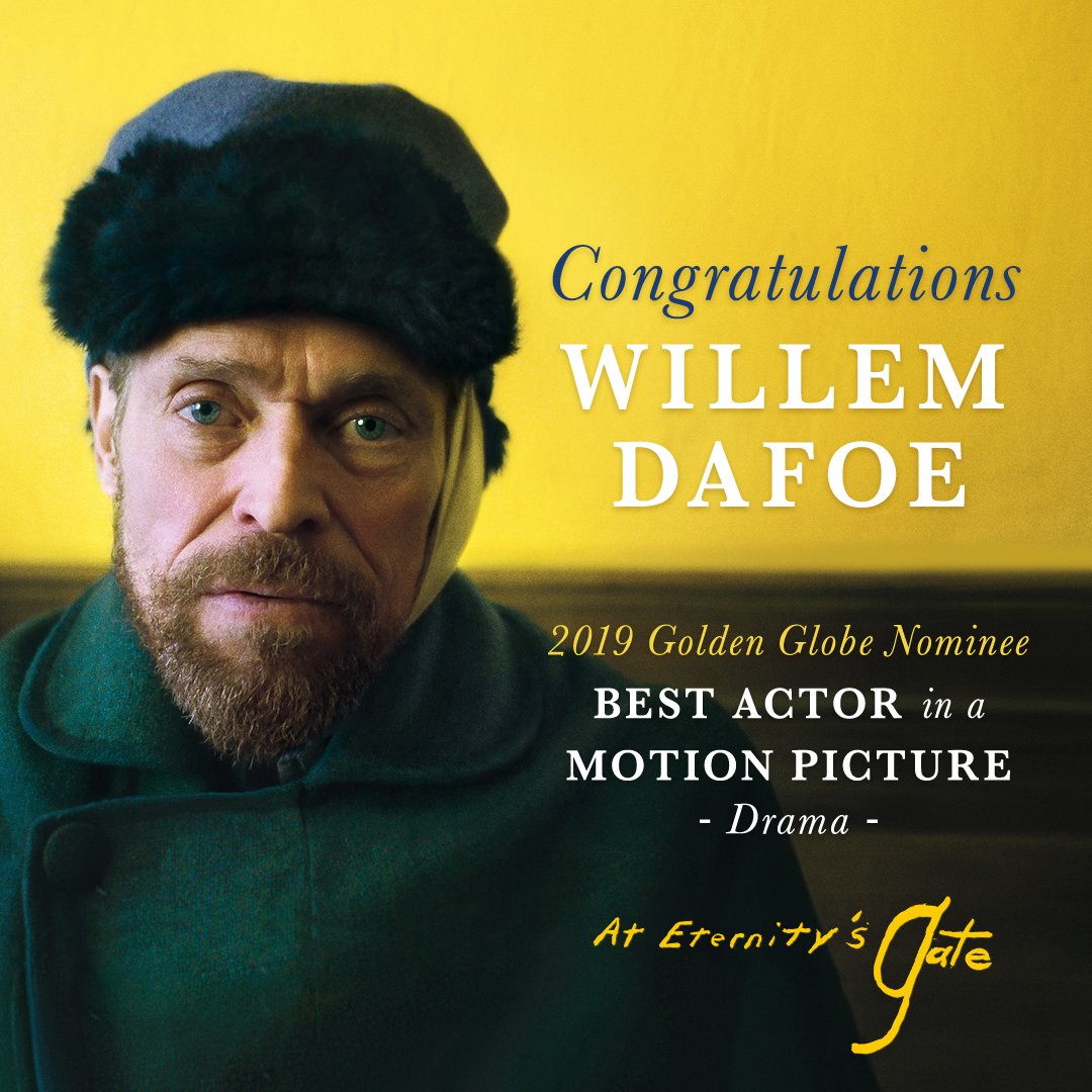 RT @AEGfilm: A born artist. Congratulations to Willem Dafoe on his @GoldenGlobes nomination for #AtEternitysGate! https://t.co/QT709R14At