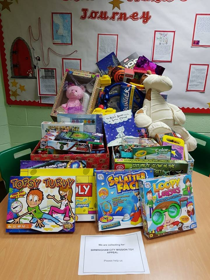 test Twitter Media - What a fantastic collection of donated gifts for BCM's ToyLink appeal! We truly have an amazing community at Hollywood. If you would still like to donate, bring gifts along to Immanuel's Gift Service on Sunday at 10am. @Bham_City_Missn https://t.co/h0Gs5FGc1w