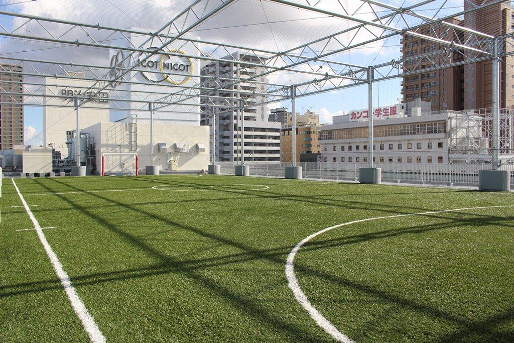 test ツイッターメディア - 先ほど『ファジアーノ岡山 フットサルパーク』が、岡山駅前のイコットニコットにオープン! 5Fにクラブハウス(受付・ロッカー・シャワー室)、屋上にフットサルコートがあり、今日からサッカースクールも開始!フットサルコートはレンタルもしていますので、ご利用ください! https://t.co/BGXx5dKbLQ https://t.co/FmTZsIoR0W