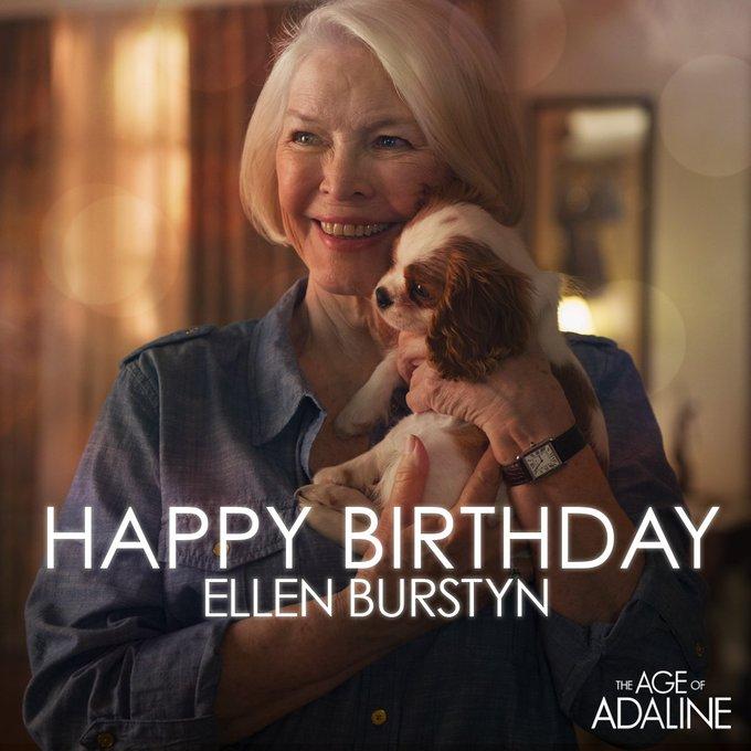 Ellen Burstyn always lights up the screen. Wishing her a happy birthday today.