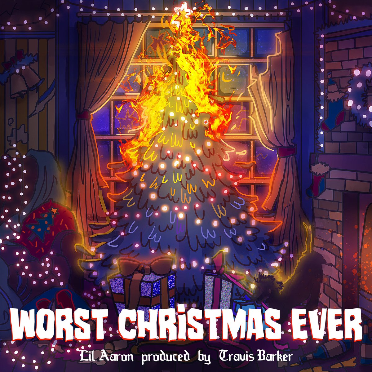RT @lilaaron911: its out! Worst Christmas Ever prod. @travisbarker ????????  https://t.co/OugPYWNZOg https://t.co/MClL6bsHwk