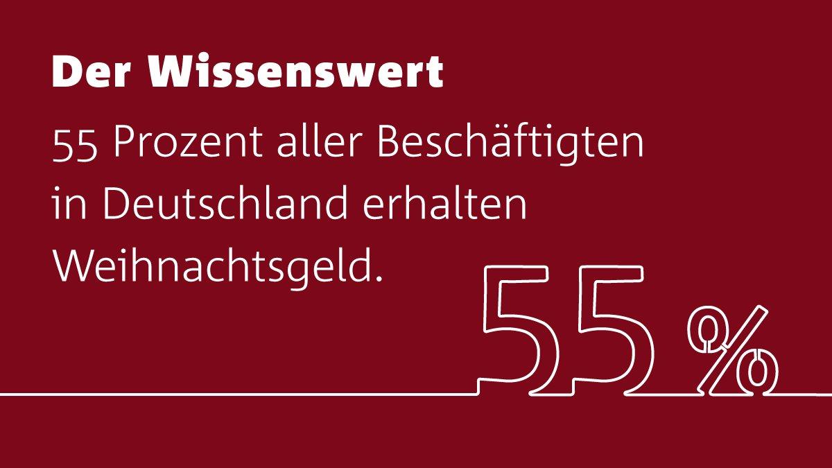 Gut für die Weihnachtsgeschenke: Mehr als die Hälfte der Arbeitnehmer in Deutschland erhalten #Weihnachtsgeld! https://t.co/aIdlqUKtKN