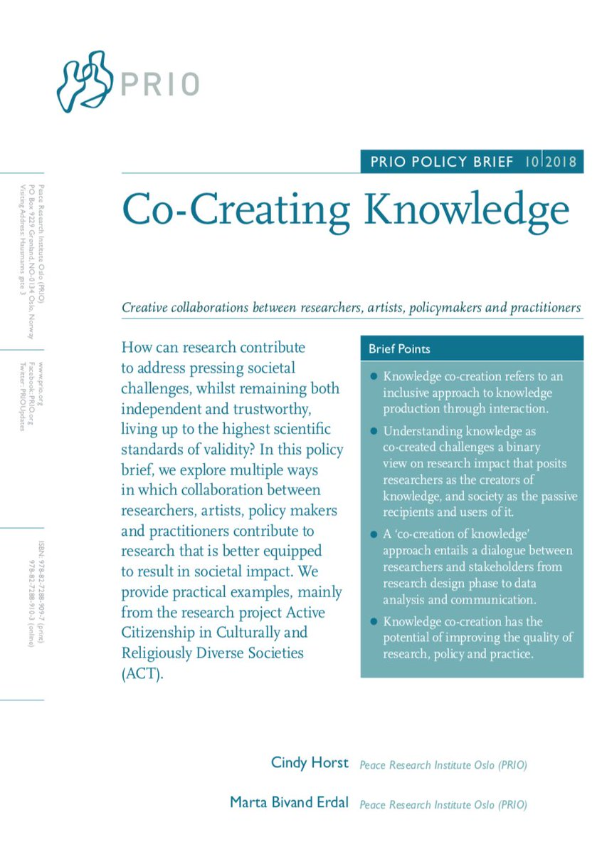 test Twitter Media - RT @fasttrackimpact: Co-Creating Knowledge: useful new guide by @PRIOUpdates https://t.co/uzFKUtjIx3 https://t.co/X1aOwV9rJj