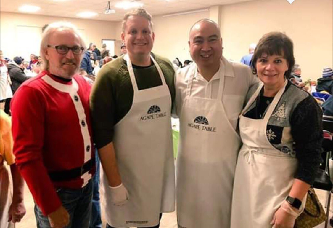 test Twitter Media - Thank you to Agape Table for inviting myself and colleagues to help serve Christmas dinner!!  It was especially great meeting up with old friends!! #Agape #BetterTogether  #HolidaysAreComing https://t.co/kLcbNJJnKA