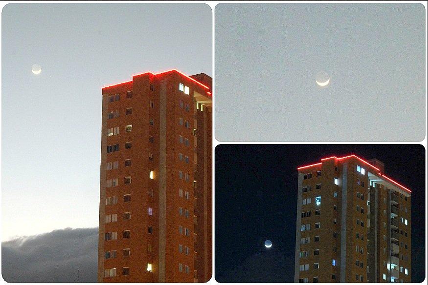 RT @johnferv: Esa #luna de #Diciembre  🌙✨☁️ Fase lunar: Luna nueva visible  Iluminación: 7.2%  #Astrophotography  #moon  @PlanetarioMed @El_Universo_Hoy #Diciembre2018  La Caminante de la noche ! 🌙✨☁️ https://t.co/3BTcwAAftm