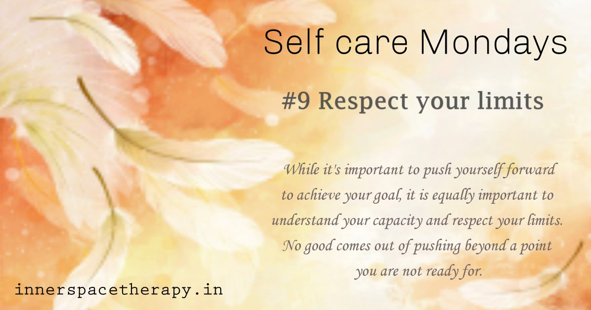 #selfcareweek #SelfCareMondays #9thWeek #RespectYourLimits   https://t.co/OxavVG0hsT https://t.co/NgythIHeee