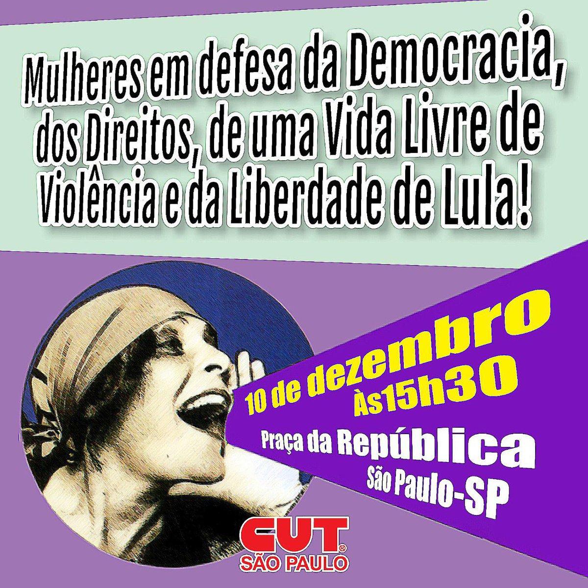 Hoje tem ato das mulheres em São Paulo #CUTsp #DireitosHumanos #CUT #Mulheres https://t.co/HcIcbq9whz
