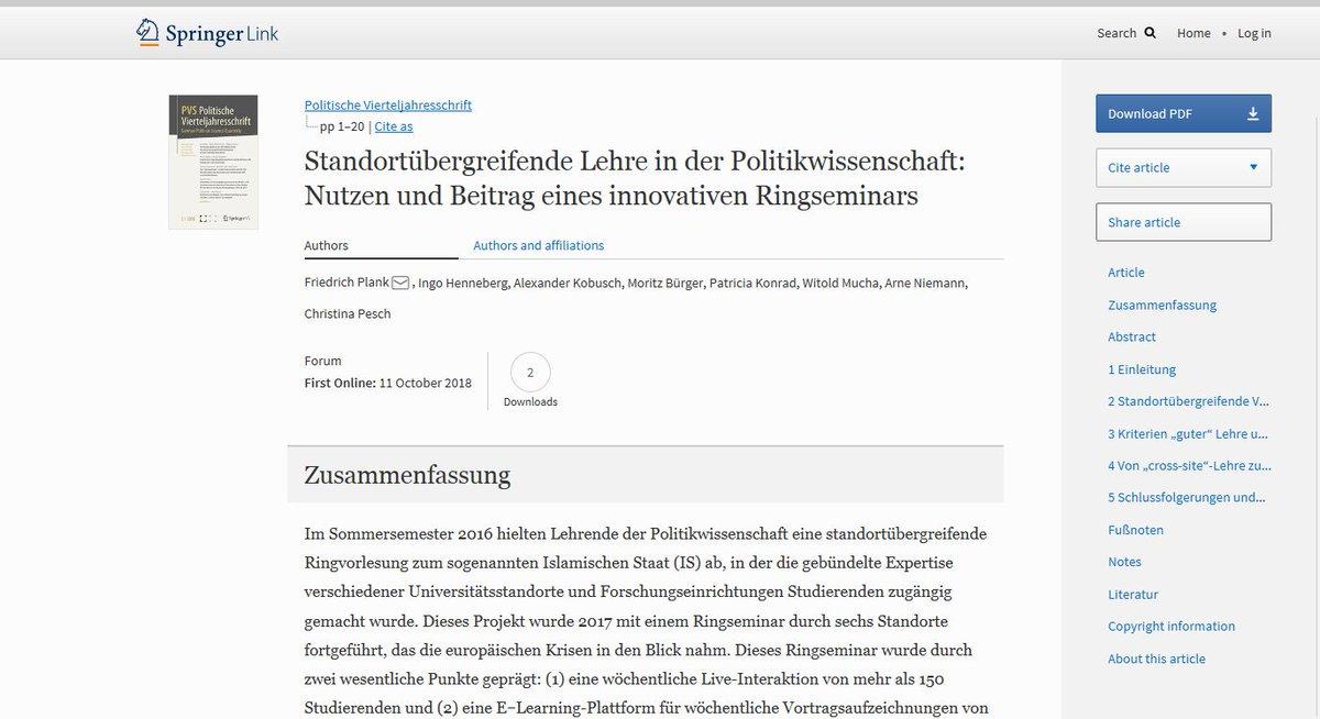 test Twitter Media - Eine Möglichkeit der #LehreU15: Standortübergreifende Zusammenarbeit durch #elearning & #Videokonferenzen: Ausprobiert von 5 der @German_U15 +weitere. Mehr dazu im Beitrag von @FriedrichPlank,@Ingo_Henneberg et al. @PVS_journal: https://t.co/R3O2HJ44Lb. #eteaching #PoWiLehre #U15 https://t.co/dHy8q7B4Jw