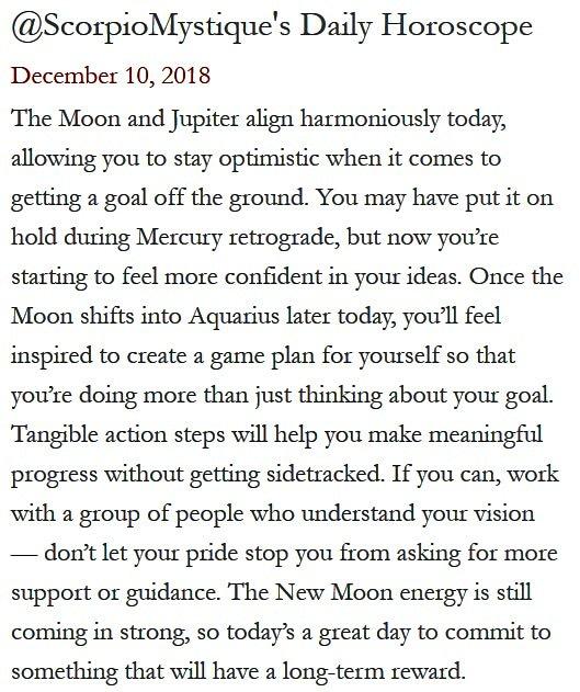 Daily Horoscope for #Scorpio 12.10.18 ♏❤️✨ #Horoscope #Astrology #TeamScorpio #KnowTheZodiac https://t.co/wyauGavi3g