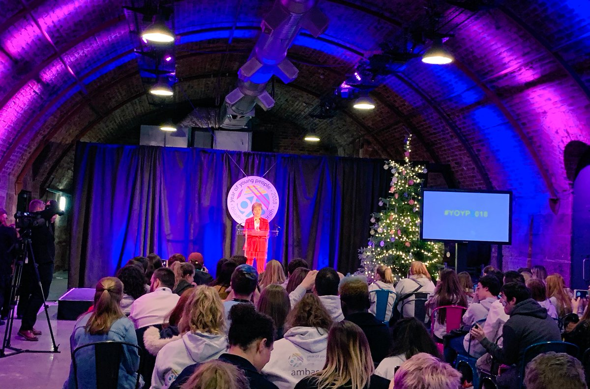 test Twitter Media - First Minister @NicolaSturgeon says that when we put young people in charge of planning, designing and delivering things for them - they're always a much bigger success. We totally agree! 🌟🌟🌟 #YOYP2018 https://t.co/oVNWUbNJA2