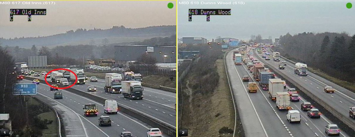 test Twitter Media - *NEW* ❗️⌚️15:26  #M80 S/B J6 Old Inns - a multivehicle RTC is partially blocking lane 2 of the main carriageway. Police and TRISS aware and en route, traffic queuing.  @BEAR_M80 https://t.co/QZ4LEdybuu