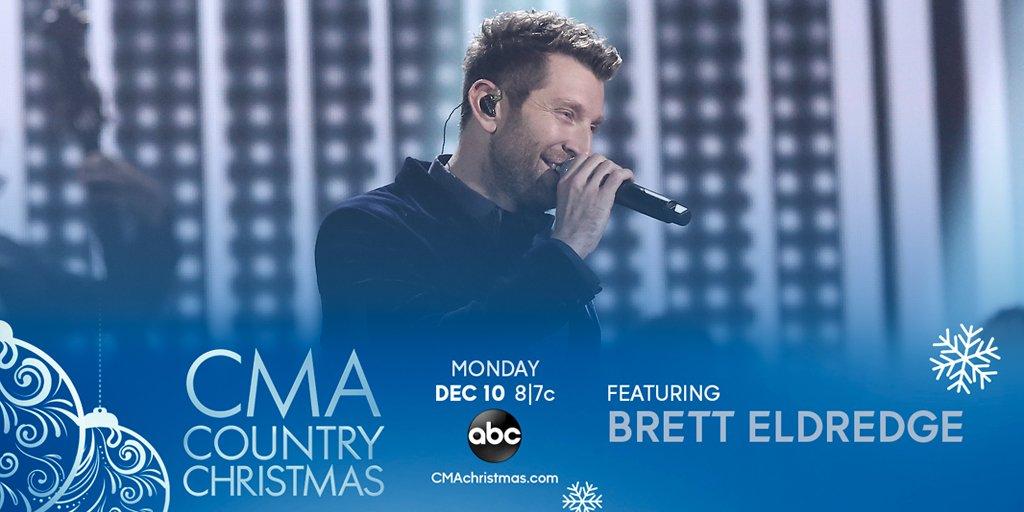 RT @bretteldredge: Don't miss Brett on #CMAchristmas TONIGHT at 8/7c on @ABCNetwork! - Team Brett https://t.co/8TlMMdS5uM