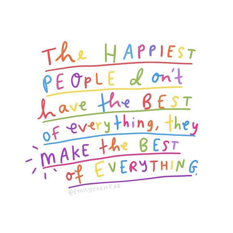 """""""The happiest people don't have the best of everything. They make the best of everything."""" ~ @actionhappiness  #mindfulness https://t.co/SOBq9MNjAu"""