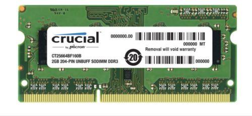 New on ebay: Crucial PC3-10600 2 GB SO-DIMM 1333 MHz DDR3 Memory (CT2G3S1339M)   https://t.co/pffdovQySJ https://t.co/7o2u2L5FMV