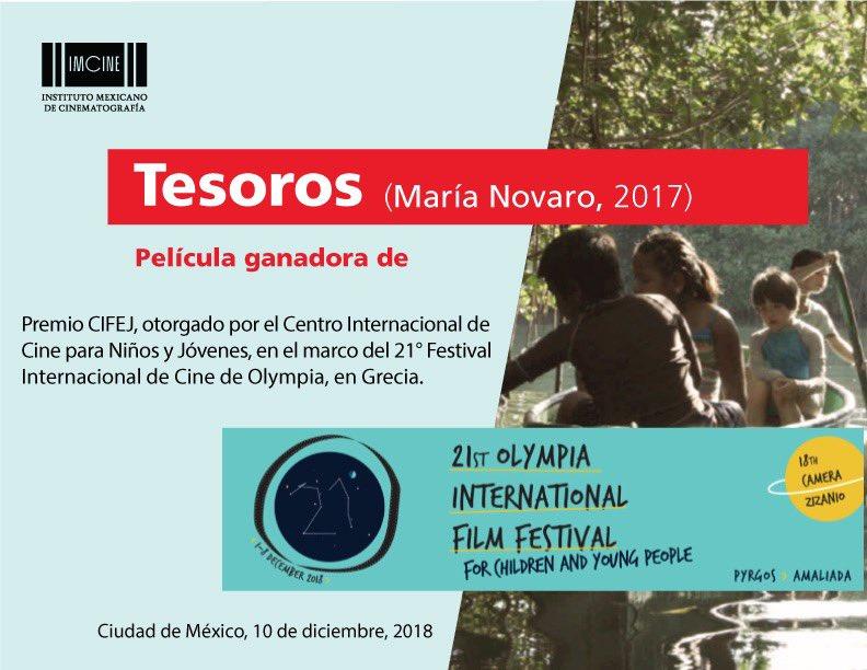 La mexicana @Tesoros_Film resultó ganadora en el @OlympiaIff, en Grecia. https://t.co/6YRGhRnzsC