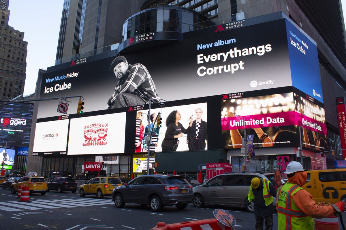 .@Spotify showing love in NYC.  Stream #EverythangsCorrupt here https://t.co/CitmMqITaw https://t.co/U5nlVAZDEN