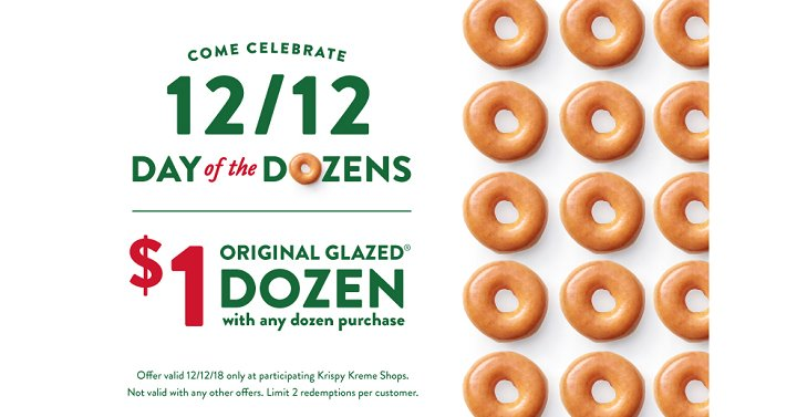 TWO DOZEN Krispy Kreme Doughnuts Just $13.00! December 12th ONLY! - https://t.co/ORWlU1uEAm #KrispyKreme https://t.co/fc4WLgFdzZ