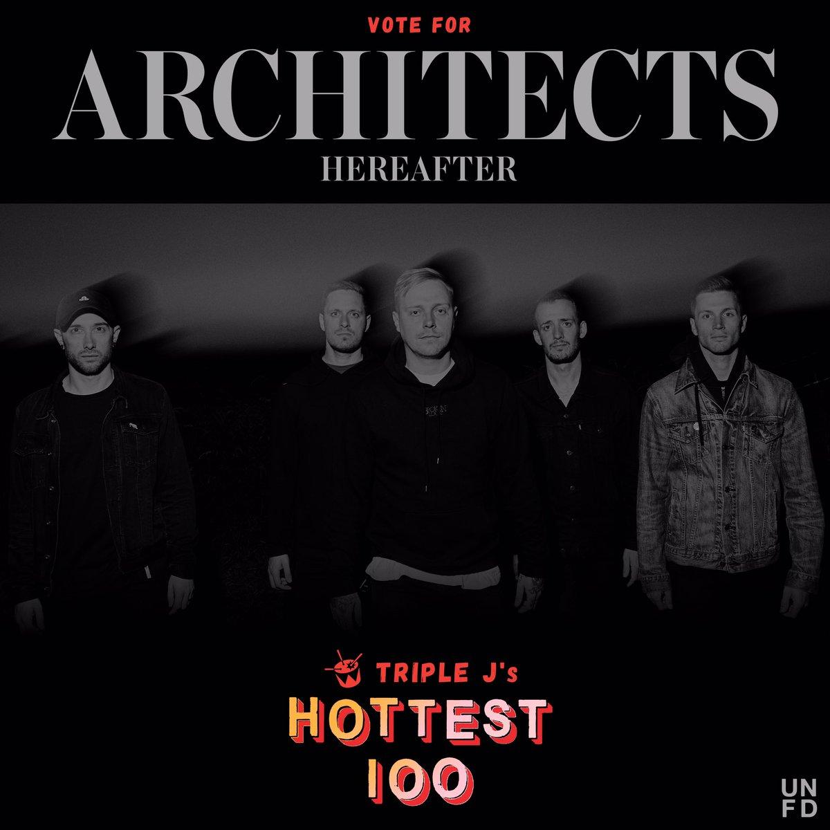 RT @MDDNco: ???????????????????? @Architects up for @triplej hottest 100. Vote here https://t.co/XLneSl9zAp https://t.co/NMHsXkT46T