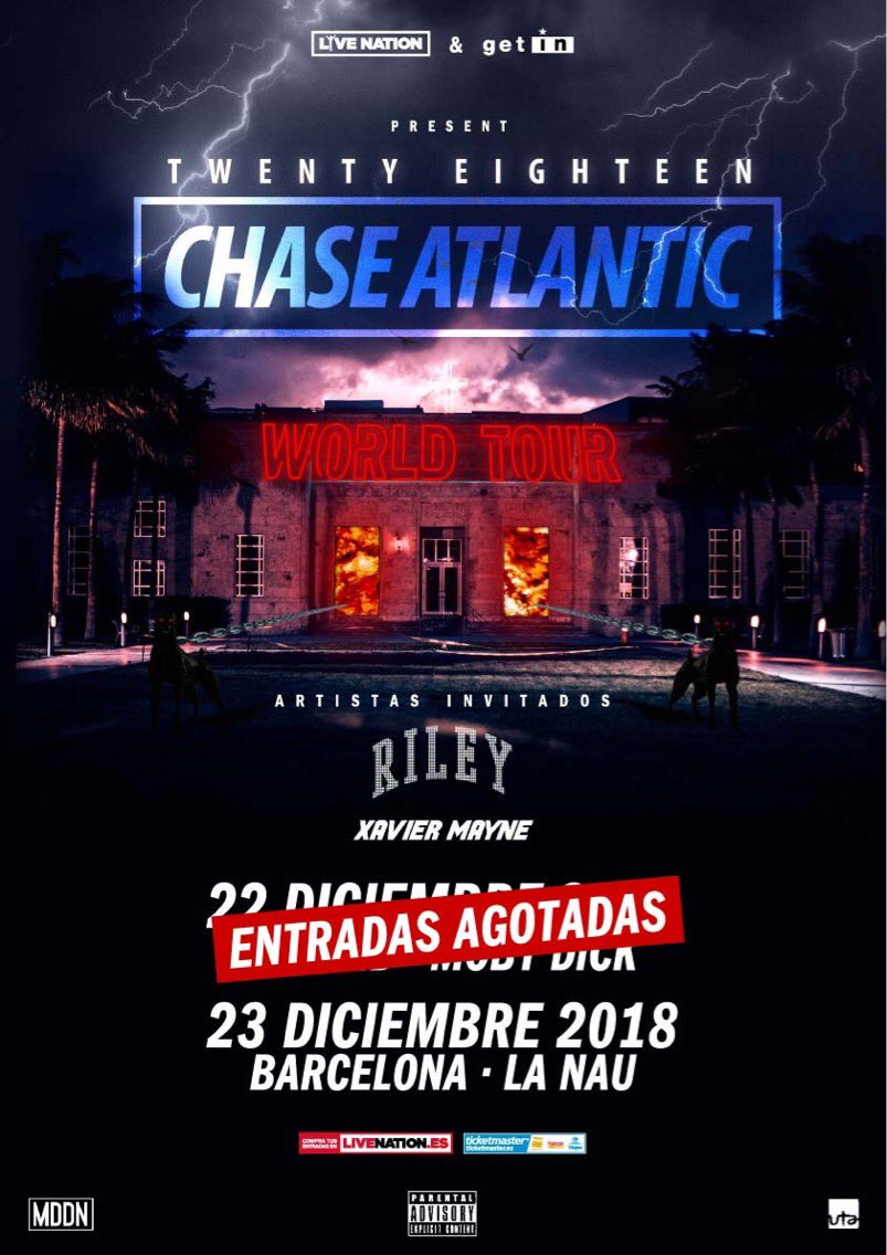 RT @ChaseAtlantic: MADRID SOLD OUT ???????? TIX IN BARCA ARE ALMOST GONE ????  TIX: https://t.co/CQ28gYN4XI https://t.co/Sfe0EopQoH