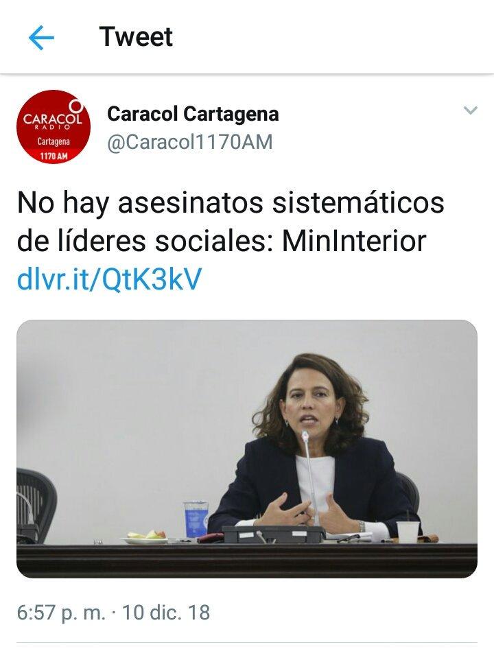 RT @CuchoRojo: Sobre el asesinato de líderes sociales:  Gobierno de Duque // Relator de la ONU. https://t.co/Khgd4W9aGs