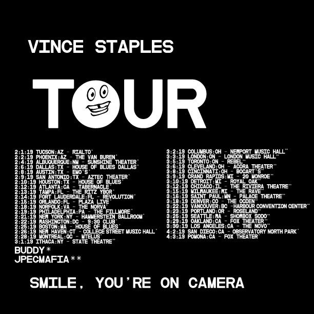 RT @vincestaples: SAVE YOUR CHILD SUPPORT ITS TOUR TIME https://t.co/KUzWL85Cf7