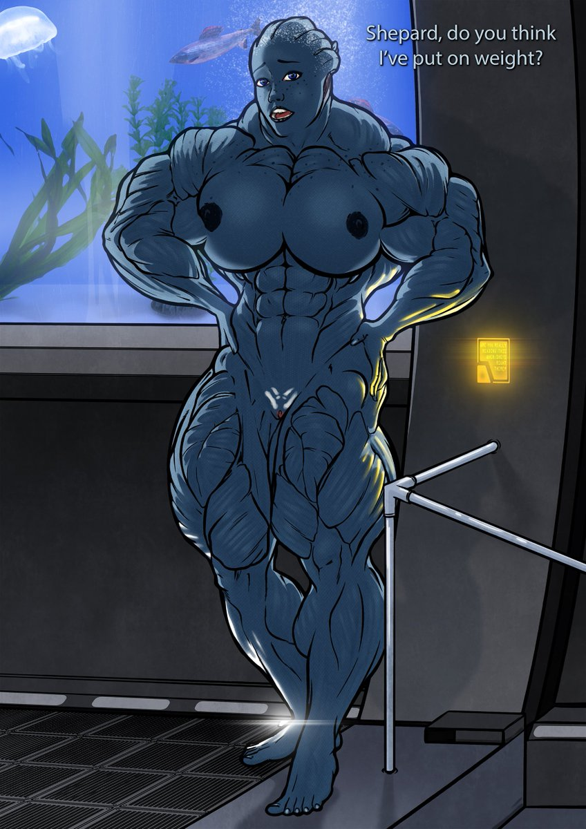 What if Liara from Mass Effect started working out... Another drawing migrated here #masseffect #liara #musclegirl