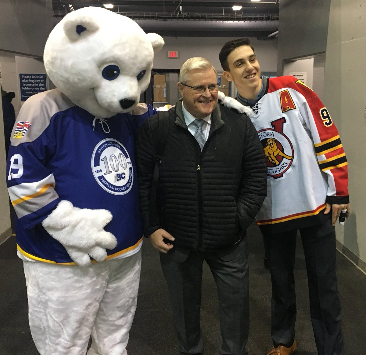 test Twitter Media - Celly & @victoriacougars @albs08 were 'beary' excited to meet you @TSNBobMcKenzie! Thanks for stopping for a quick pic! https://t.co/NfHlofP0PH