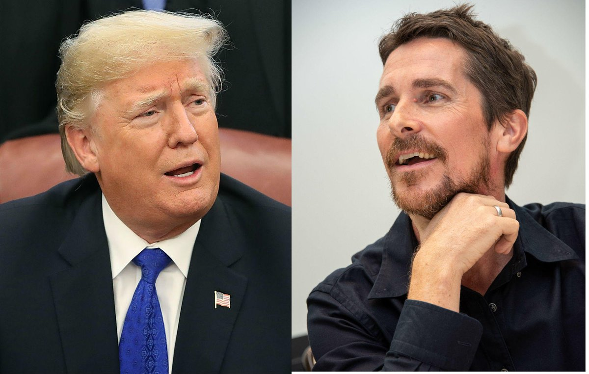"""RT @NME: Christian Bale on meeting Donald Trump: """"He thought I was Bruce Wayne"""" https://t.co/QLoBxnZK4m https://t.co/Pwe86XeoRL"""