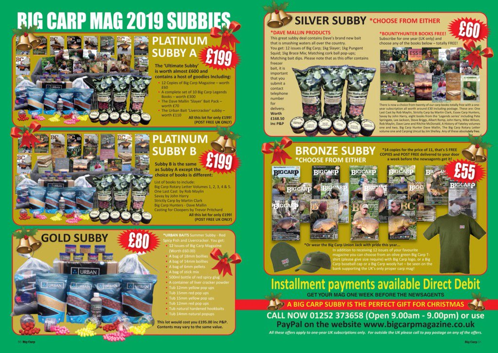 XMAS SUBBY TIME IS HERE - https://t.co/IboWO8HhaM #fishing #carp #carpfishing #robmaylin #bc https:/