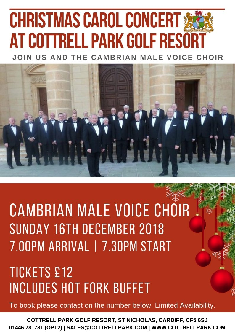 test Twitter Media - Final few tickets remaining!🎄  It's less than a week until our Christmas Carol Concert with Cambrian Male Voice! 🎶  We have less than 15 tickets remaining, which is sure to be an evening of fantastic festivities.   To claim these remaining tickets contact 01446 781781 (Opt. 2). https://t.co/kmmi4Dy6PF