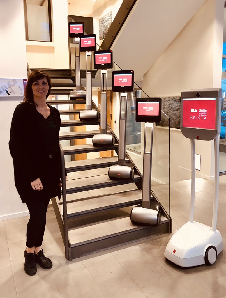 test Twitter Media - With Krista, Eva, Marvin, Sæborg, Markus and Auður Ársól. Our six telepresence robots from #Beam @suitabletech So proud to be a part of this project at @kennslumidstod @Haskolinn_Ak They're available both for students and staff at the University #menntaspjall #edtech #thisisnow https://t.co/DfOJUDxDdW