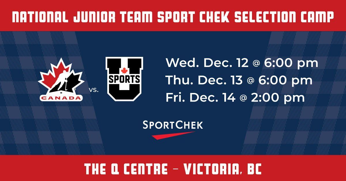 test Twitter Media - Here we go! Canada's #WorldJuniors hopefuls are in Victoria this week for the @SportChek Selection Camp. Follow @HC_WJC for updates and action from the west coast. #REPRESENT https://t.co/DqisFc3vBT