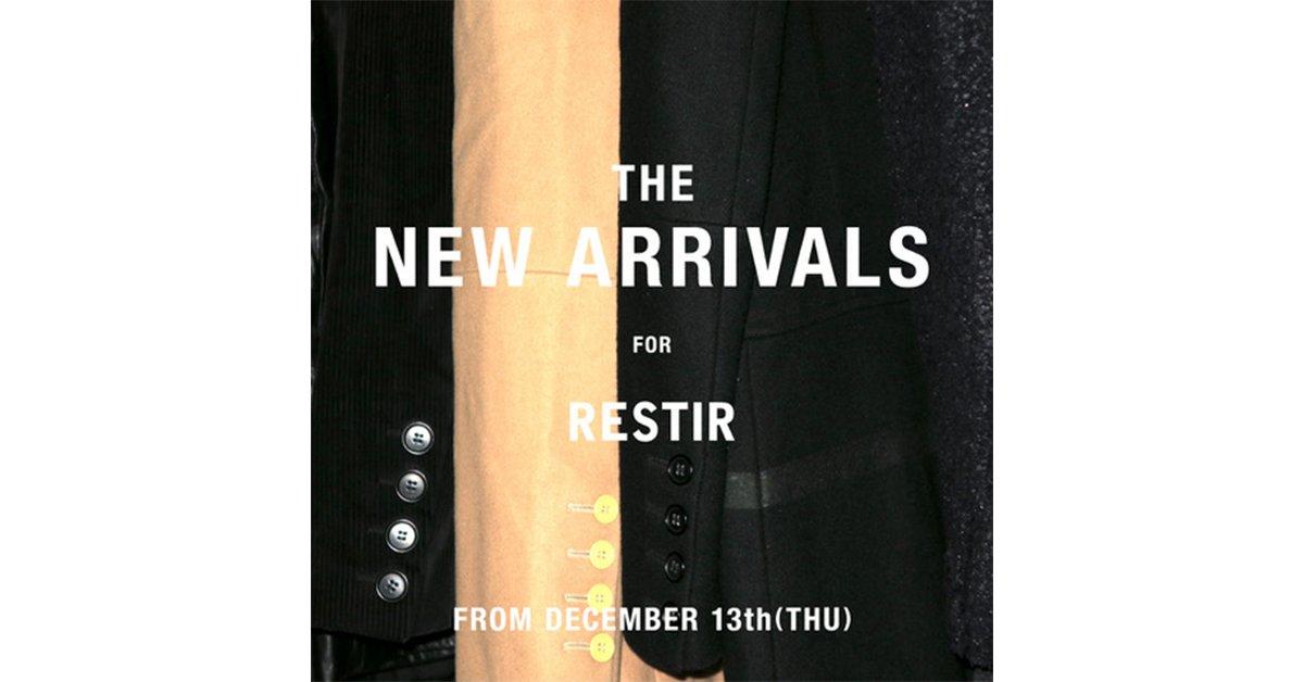 RESTIRにてキュレーションしたヴィンテージピースを展示、販売する『THE NEW ARRIVALS』のポップアップストアが開催 https://t.co/FxjUX0QUoU https://t.co/Acnu8sBR5G