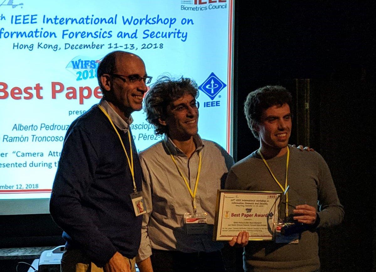 test Twitter Media - Os nosos compañeiros Alberto Pedrouzo, Miguel Masciopinto e Fernando Pérez, en colaboración con Juan R. Troncoso de @EPFL recibiron o premio ao mellor traballo presentado no #wifs2018 en #HongKong  https://t.co/AWXzaDQxU2 https://t.co/kwtpvVV4rA
