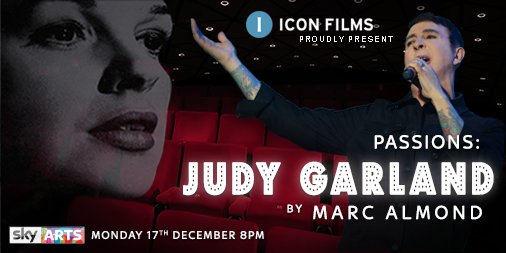 Master of song @MarcAlmond OBE takes a bittersweet journey down the Yellow Brick Road exploring the life, poignant death & mystic survival of one of his musical heroes, #JudyGarland in the @SkyArts Passions strand Mon 17 8PM #AlmondonGarland #comingsoon #thejudygarlandexperience https://t.co/IHuOR1tbmq